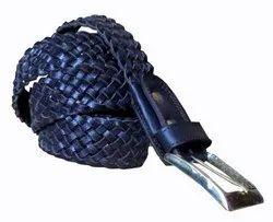 Braided Woven Genuine Leather Belt