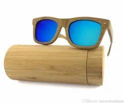 Bamboo Wood Rectangular Fashion Sunglasses