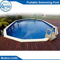 Blue Frp Portable Swimming Pool, For Amusement Park, Standard