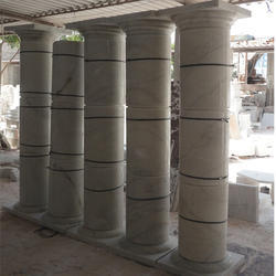 White Portico Polished Pillars
