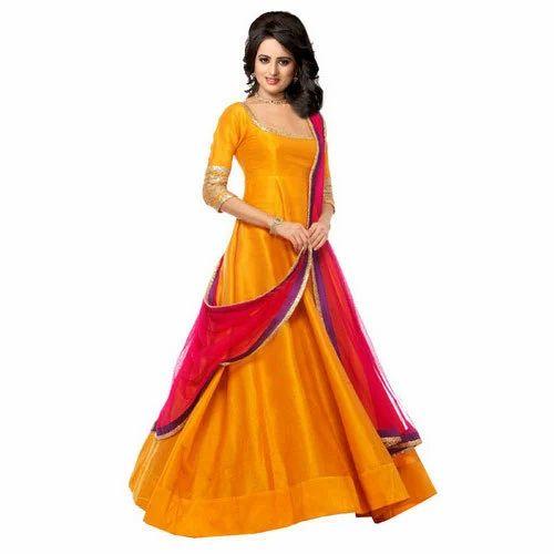 d3a8cef08d Plain Long Anarkali Suit at Rs 1299 /piece   Anarkali Suits   ID ...