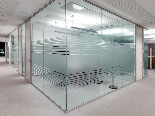 Decorative Office Glass Partition, Rs 450 /square feet Iqra Enterprise |  ID: 15865339397