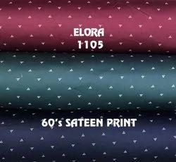 Elora Cotton Printed Fabric, Digital Prints, Multiple Colours