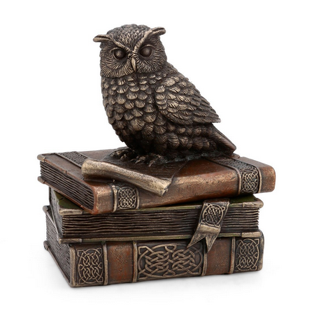Antique Decorative Mythical Owl Porcelain Jewelry Box at Rs 1799