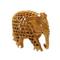 Big Wooden Elephant