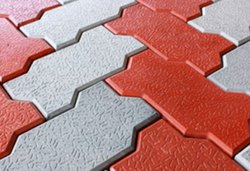 OHM Concrete Interlocking Tiles Zig Zag, Thickness: 14mm+, for Flooring