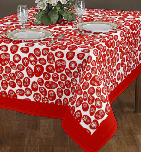 Multicolor Airwill Label Christmas Tablecloth Size 140 X 180 Cm