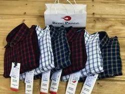 BEING PRIMAL Cotton Men Branded Slim Fit Shirt