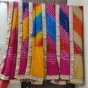 Silk Bandhani Gota Patti Border Dupatta