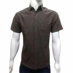 Men's Cotton Half Sleeve Plain Shirt, Size: S-XXL