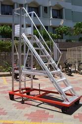 Industrial Aluminum Wide Step Ladder