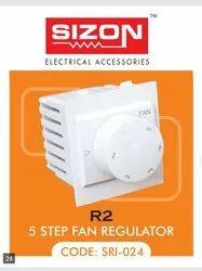White Modular R.2 5 Step Fan Regulator Sizon for Home