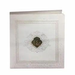 Square Paper Wedding Card