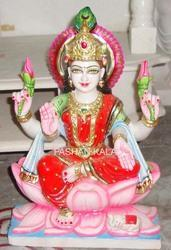 Colored Marble Lakshmi Statue