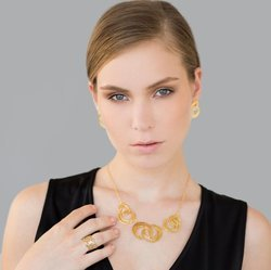 Gold Plated Designer 2018 Fashion Earring for Woman