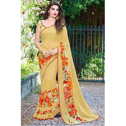 Ladies Stylish Saree, 6.3 M With Blouse Piece