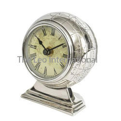 Decorative Metal Globe Clock Tabletop