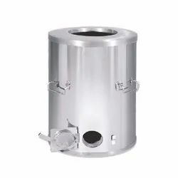 Round Stainless Steel Drum Tandoor, For Restaurant