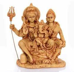 HANDICRAFT Lord Shiva Parvati Ganesha
