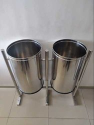 Pole Hanging Stainless Steel Dustbin