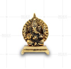 Gold Plated Small Ganesha Idol