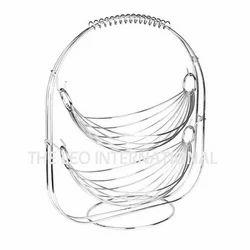 Storage two tier steel wire decorative basket
