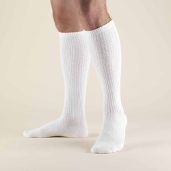 White Knitted Men's Cotton Socks