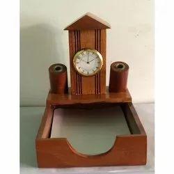 Custom-Made Wooden Watch Pen Stand