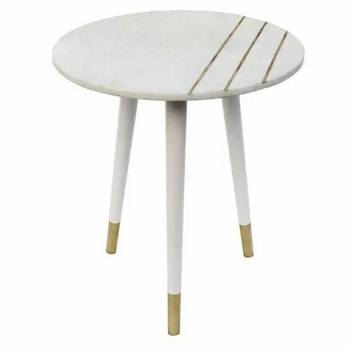 Brass Inlay Coffee Table