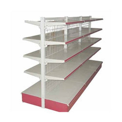 MS Powder Coated Supermarket Rack