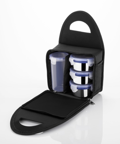 6fe9dc98af0 Kkart Black Royal Stainless Steel Lunch Box