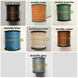 Metallic Round Leather Cord