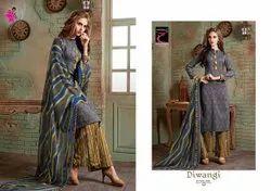 Khushika Printed Churidar Suit