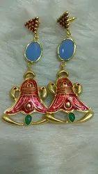 Meena Painted Earrings