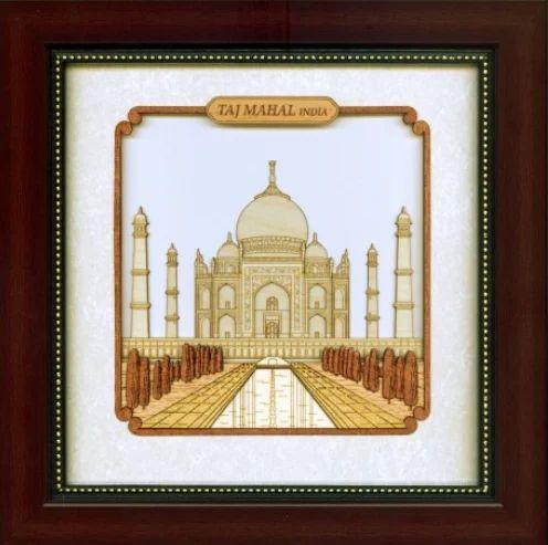 Monuments Taj Mahal 8 X 8 Wall Art at Rs 1100 /piece | Deewar Kala ...
