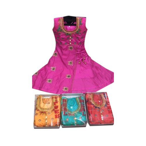 Kids Round Neck Gown, Packaging Type: Packet