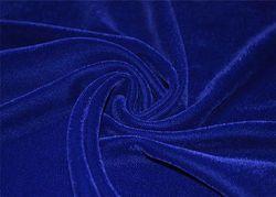 Blue Plain Velvet 9000 Fabric