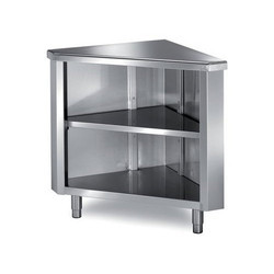 Zinox Stainless Steel SS Corner Table, For Restaurant