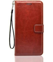 Blue And Brown Faux Leather Vintage Diary Mobile Flip Covers