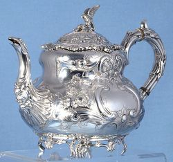 Decorative Silver Kettle