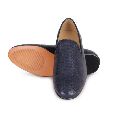 Navy Blue Python Cut Mens Loafer Shoes, Size: 6-11 | ID: 18270735330