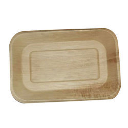 Moulya Dinnerware Plain Rectangle Areca Leaf Plate, Shape: Rectangular, for Event and Party Supplies