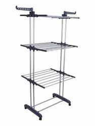 Stainless Steel Clothes Rack, Weight: 6 KG