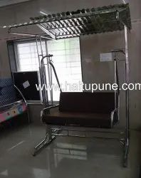 Stainless Steel Two Seater Jhoola With Roof