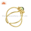 Peridot Gemstone Gold Plated 925 Silver Handmade Design Rings Jewelry