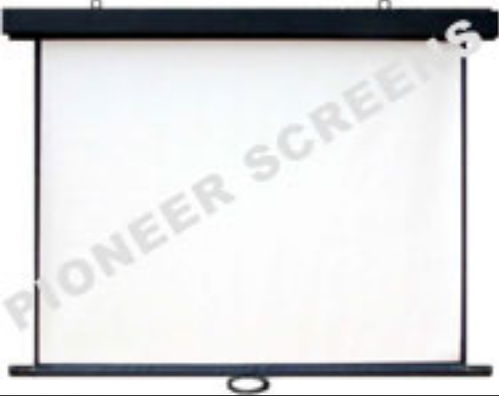 Wall Automatic Roll-back Spring Action Projector Screen