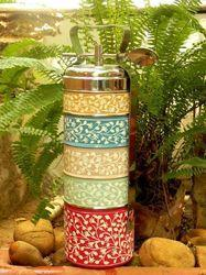 Kaushalam various Hand Painted Tiffin Carriers, Lunch Boxes, Size: various
