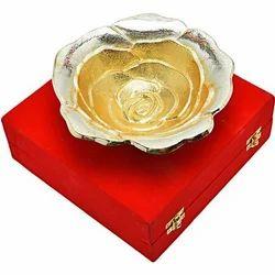 Aluminum Memorial Rose Shape Bowl Gift Set