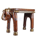Wooden Elephant Side Table For Home Decoration