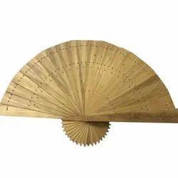 Brown Sandalwood Hand Fan